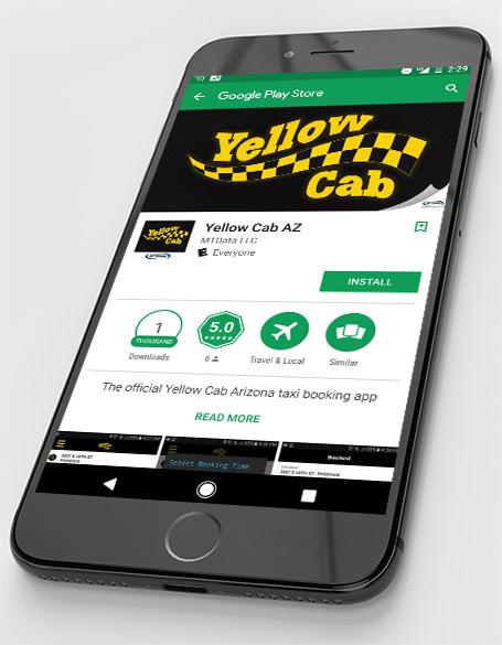 Download Yellow Cab Mobile App | Yellow Cab Arizona