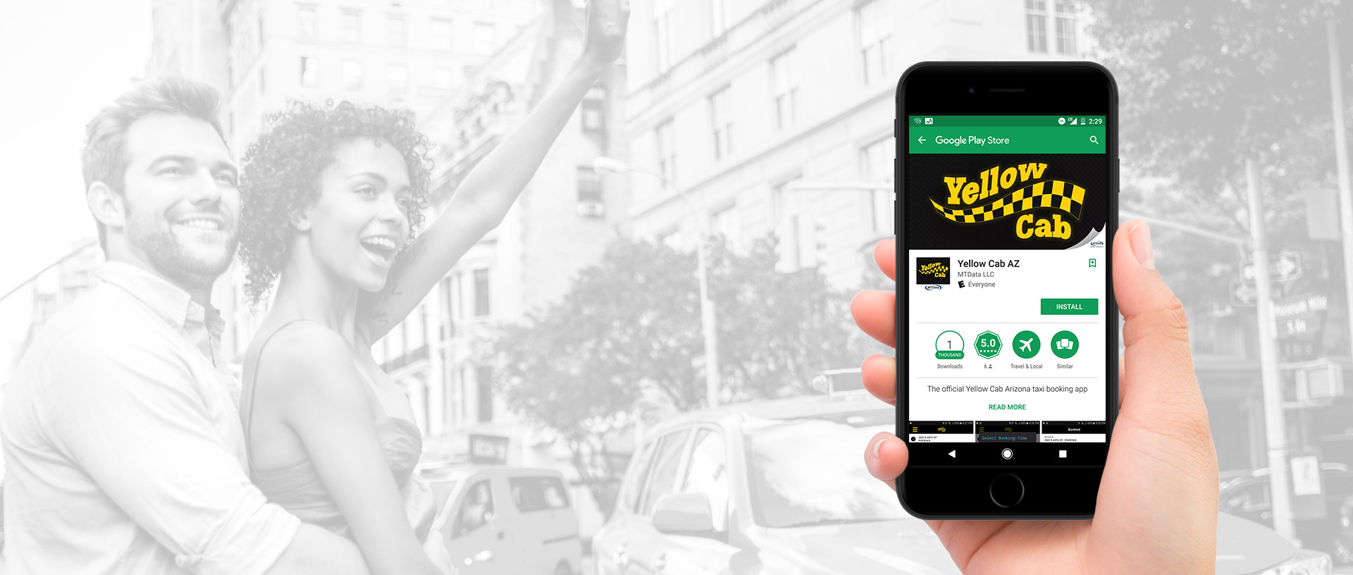 Download the Yellow Cab App