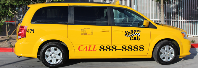 Taxi Vans Yellow Cab Arizona
